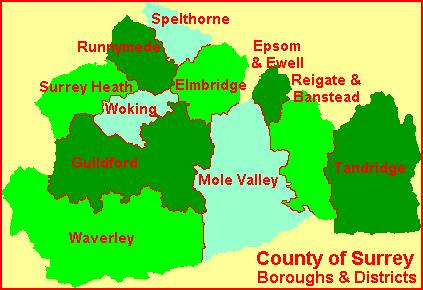 Boroughs & Districts